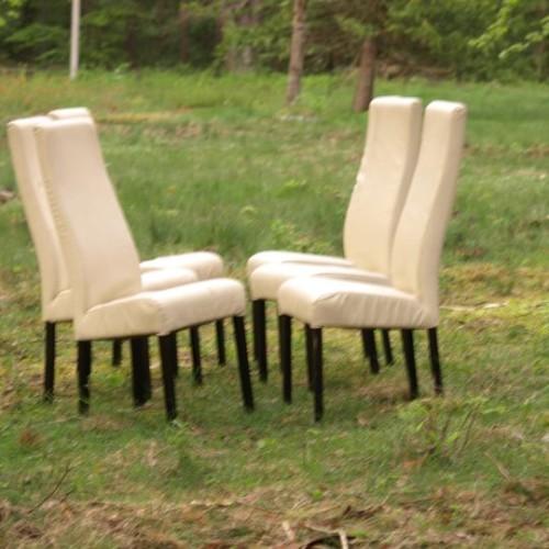 6 kėdės aukštu atlošu
