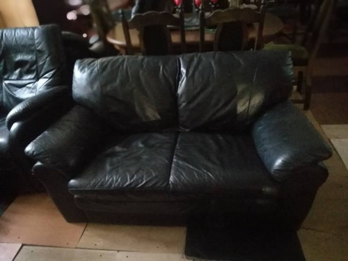 Dvivietė odinė sofa